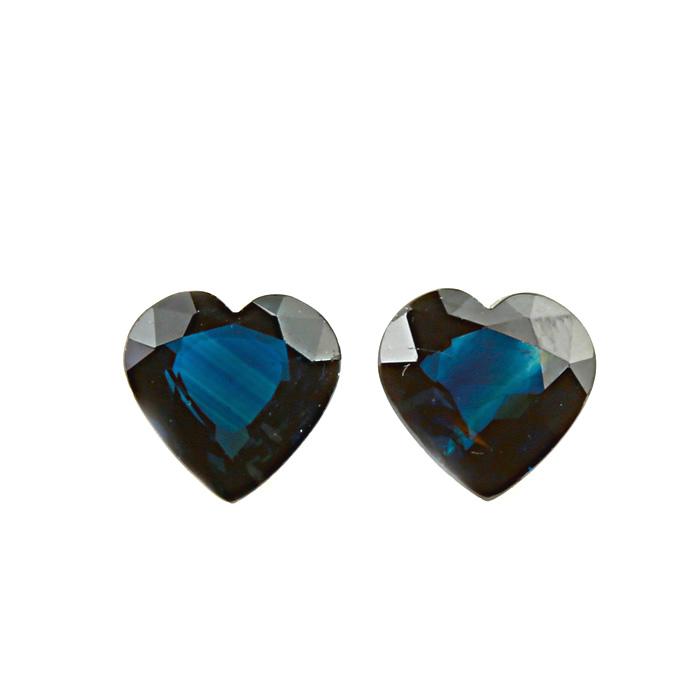 Thailand Blue Sapphire Heated Pair