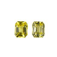 Ceylon Yellow Sapphire Pair Unheated