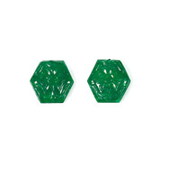 Swad mine Emerald Carving Pair
