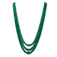 Emerald Rondelle Beads