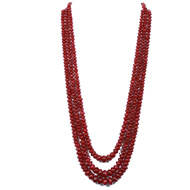 Ruby Rondelle Beads