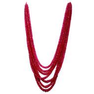 Kazakistan Ruby Unheated Rondelle Beads