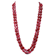 Ruby Oval Tumble Beads