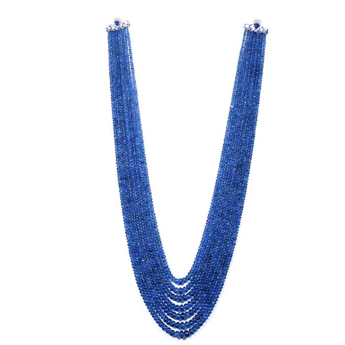 Burmese Blue Sapphire Unheated Rondelle Beads