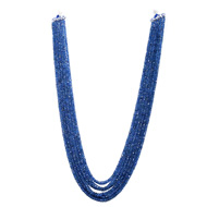 Ceylon Blue Sapphire Unheated Faceted Rondelle Beads
