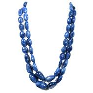Burmese Blue Sapphire Unheated Oval Tumble Beads