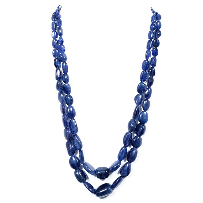 Blue Sapphire Fracture Filled Tumble Beads