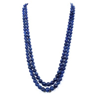 Blue Sapphire Fracture Filled Rondelle Ball Beads