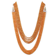 Orange Sapphire Faceted Beads