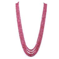 Rubellite Rondelle Beads