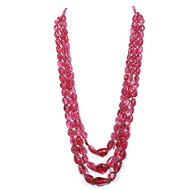 Rubellite Oval Tumble Beads