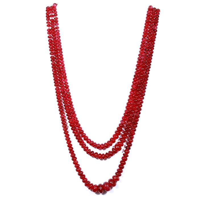 Burmese Spinel Unheated Rondelle Beads