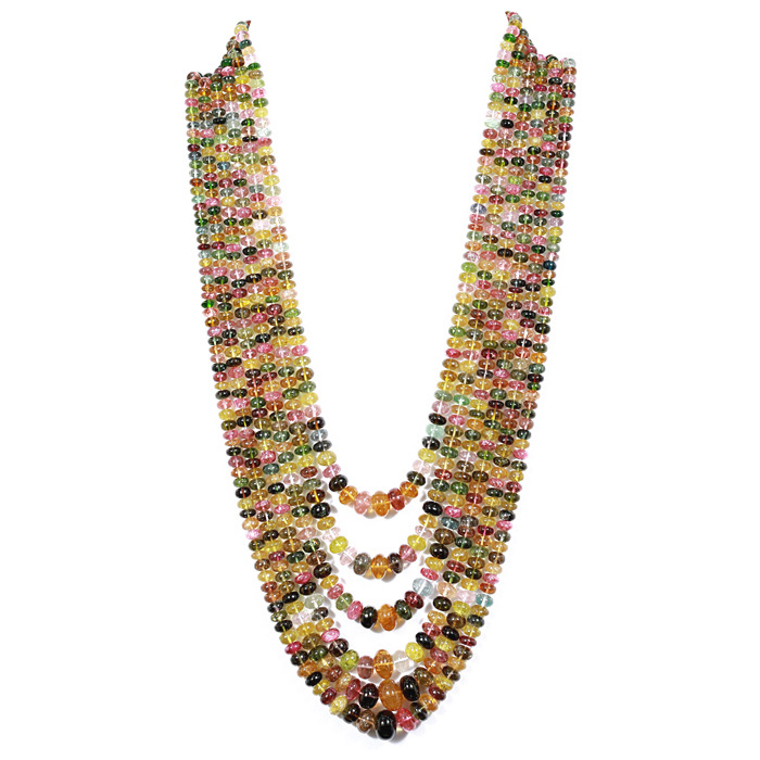 Tourmaline Rondelle Beads