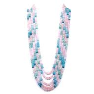 Multi Aquamarine Rondelle Beads