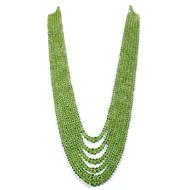Peridot Rondelle Beads
