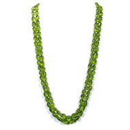 Peridot Oval Tumble Beads