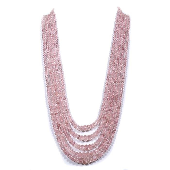 Morganite Faceted Beads