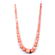 Pink Coral Rondelle Beads
