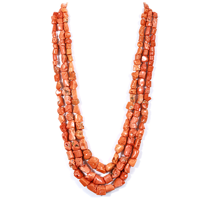 Coral Uneven Beads