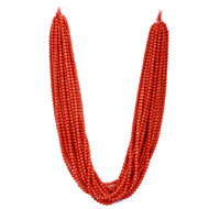 Coral Rondelle Beads