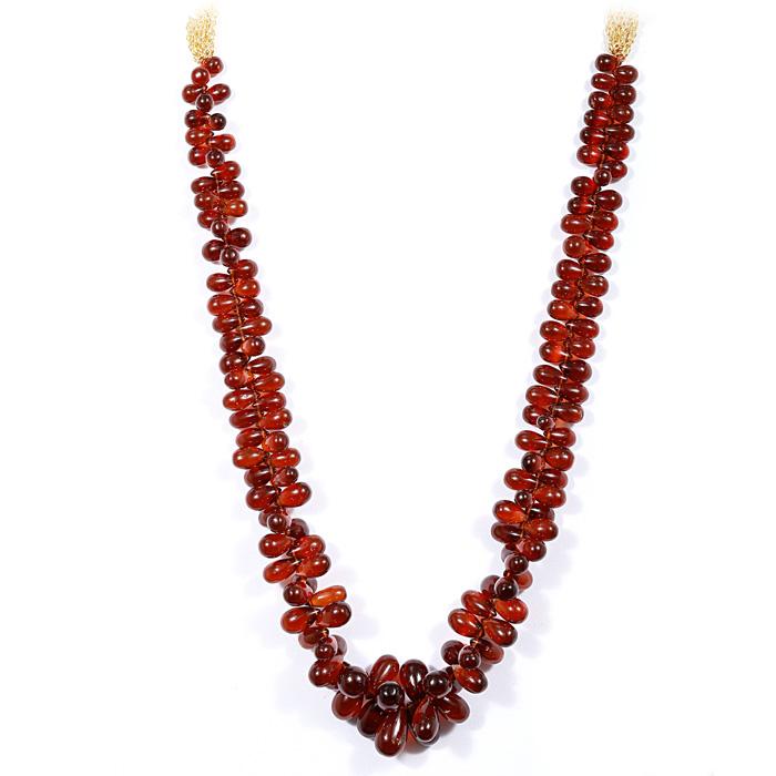 Garnet Drop Beads