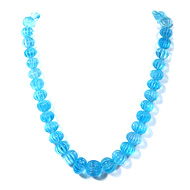 Blue Topaz Carving Beads