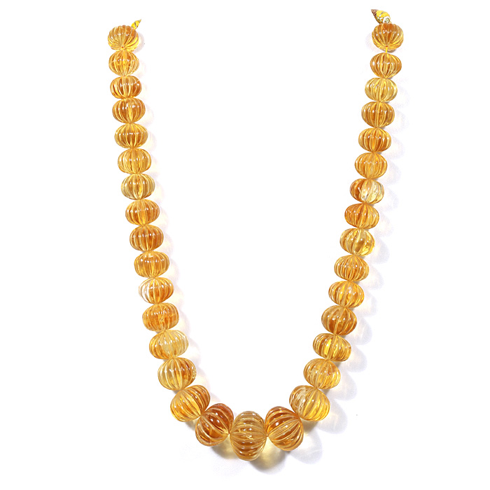 Citrine Carving Beads
