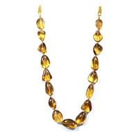Lemon Honey Quartz Tumble Beads
