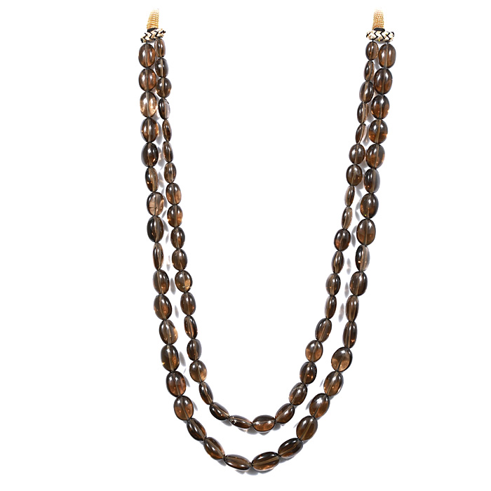 Smoky Quartz Oval Tumble Beads