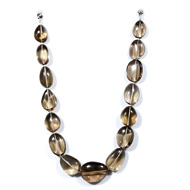 Smoky Quartz Oval Tumble Beads