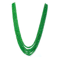 Tsavorite Faceted Round Beads
