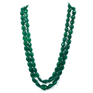 Green Onyx Oval Tumble Beads