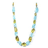 Lemon Quartz + Blue Topaz Fancy Beads