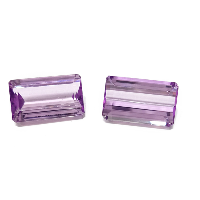 Natural Kunzite Pair