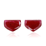 Mozambique Ruby Unheated Pair