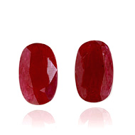 Mozambique Ruby Heated Pair