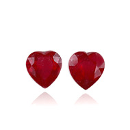 Ruby Fracture Filled Pair