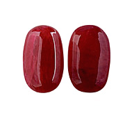 Ruby Fracture Filled Cabochon Pair